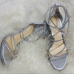 Jessica Simpson Rhinestone Covered Strappy Heels